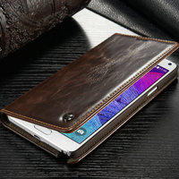 For Samsung Galaxy NOTE 4 Leather Wallet Flip Pouch Stand Case Cover