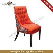 Dining room furniture button tufted chair