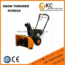 Gas power hand operated snow plows