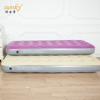 Custom Flocked Full Size Inflatable Floating Bed Air Track Mattress