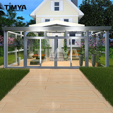 Prefabricated aluminum greenhouse living room glass partition design