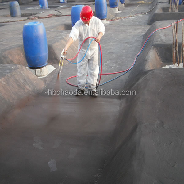 Non-curing black bitumen liquid rubber roof coating