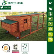 Newest Large Run wood Chicken Coop House With Wheels