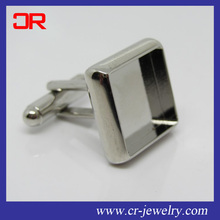 Custom design DIY brass square cufflink blanks
