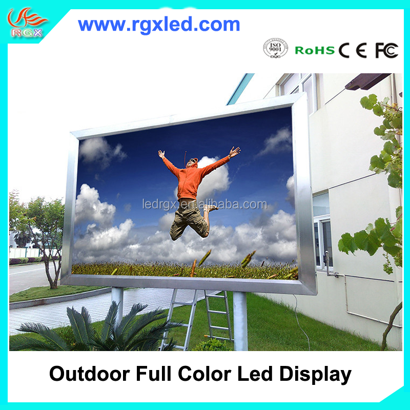 Shenzhen RGX HD 3D P6 P8 P10 Full Color Electronic Outdoor Waterproof Commercial Advertising Led for front service