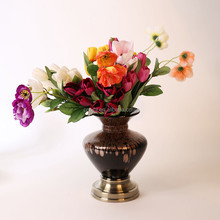 Factory supply fashionable trumpet glass vase for party events with good offer