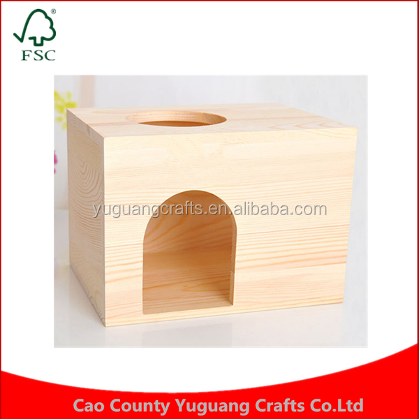 Custom bite-resistant pine villas Small pet Meter window cabin chinchillas wooden squirrel House
