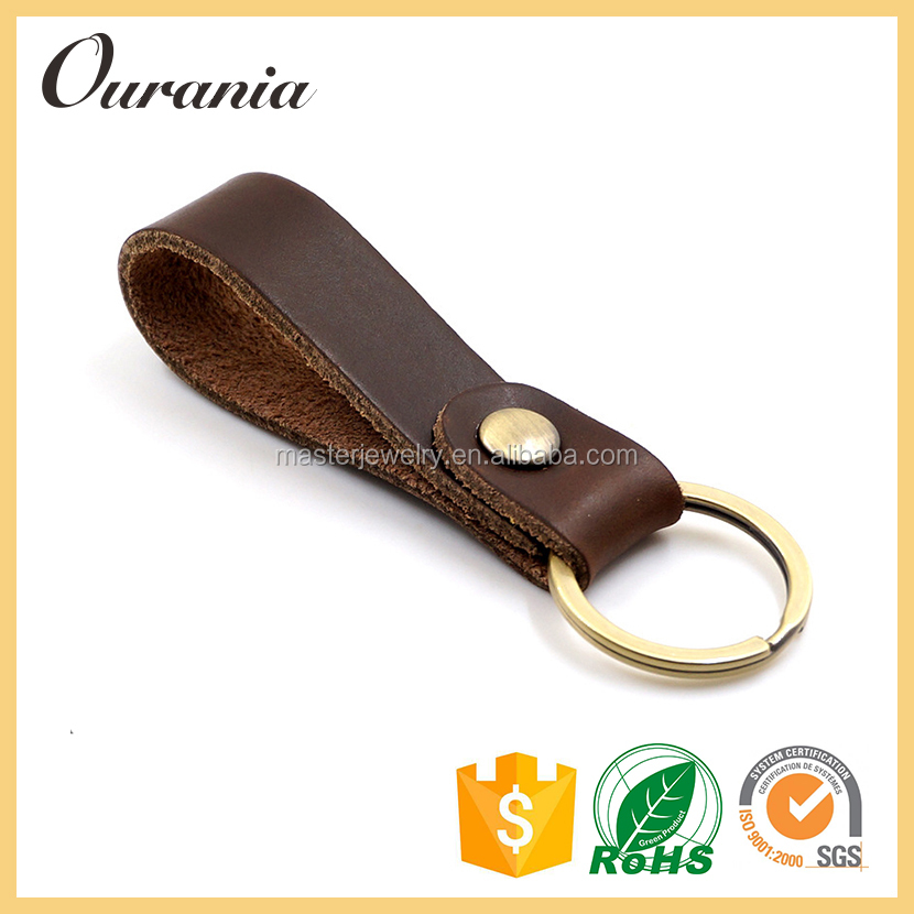 Promotional Gift Leather Keychain Models Keyring