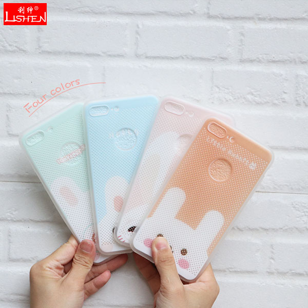 Small lovely blue rabbit heatproof phone case for samsung galaxy s8 cover