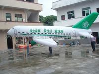 Advertising PVC inflatable helium airplane balloon,custom inflatable plane C4017