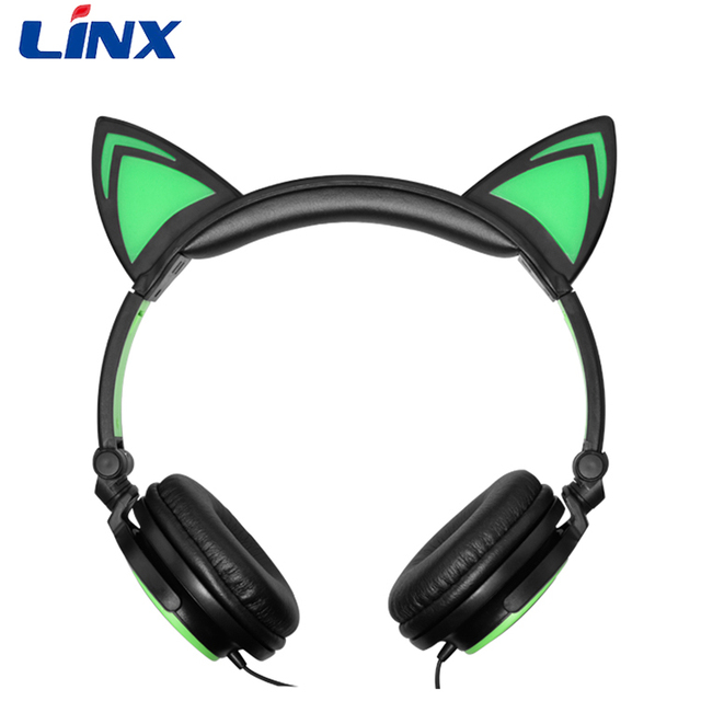 Good quality fashion stylish cat ear cheap earphones &amp headphones for gifts