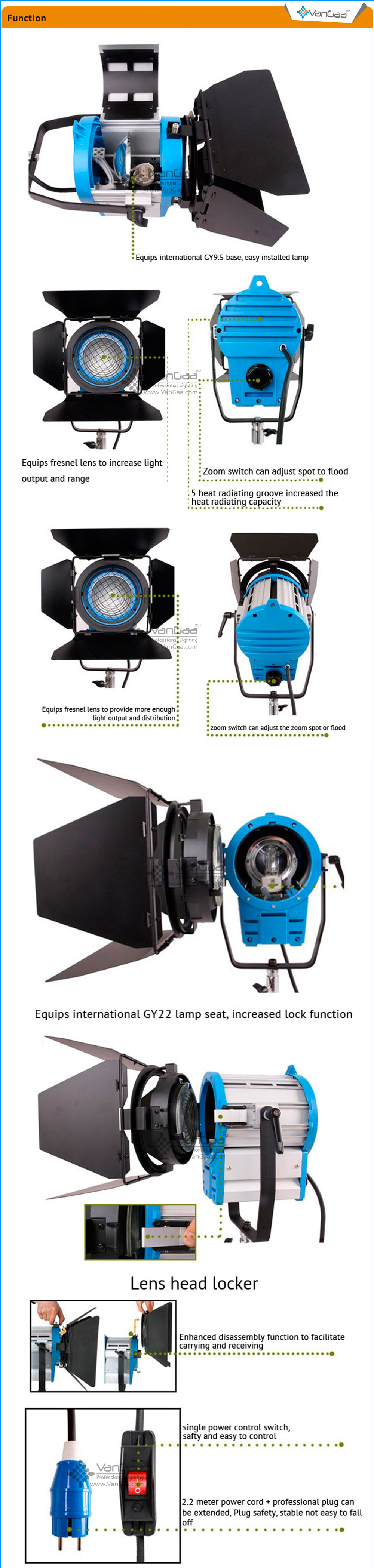 REPLACEMENT BULB FOR ARRI 1000W 5.5 LENS FRESNEL 1000W