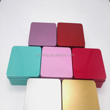New product Small Storage Jars Rectangular metal Tin weddingGift gift Box