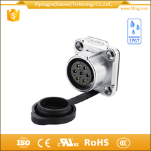 approved ul ip67 7 pins industrial outlet sockets connectors for power lead
