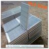 PVC coated / electro galvanized press welded steel grating, steel grating weight