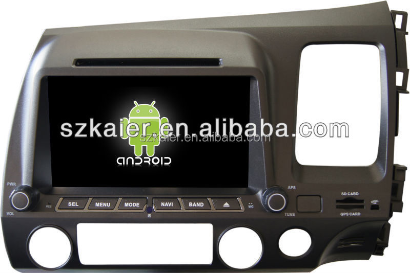 Factory directly !Quad core car dvd player android for car,wifi,BT,mirror link,DVR,SWC for Civic(right)