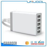Supercharger for Travel of smart phone or android 5 Ports USB Charger