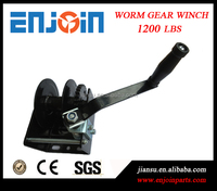 CE SGS approved manufacturing 1200lbs hand worm gear anchor winch
