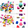 non toxic bpa free food grade silicone beads wholesale /food grade silicone teething beads bulk