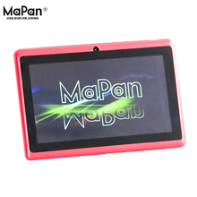 Cheapest 7 inch tablet pc flashlight/MaPan quad core 7'' 4.4 OS android with OTG function
