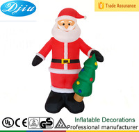 DJ-535 outdoor santa claus christmas tree inflatable decor 4ft