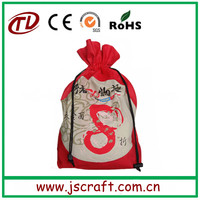 Wholesale eco recyclable promotional gift pouch with drawstring