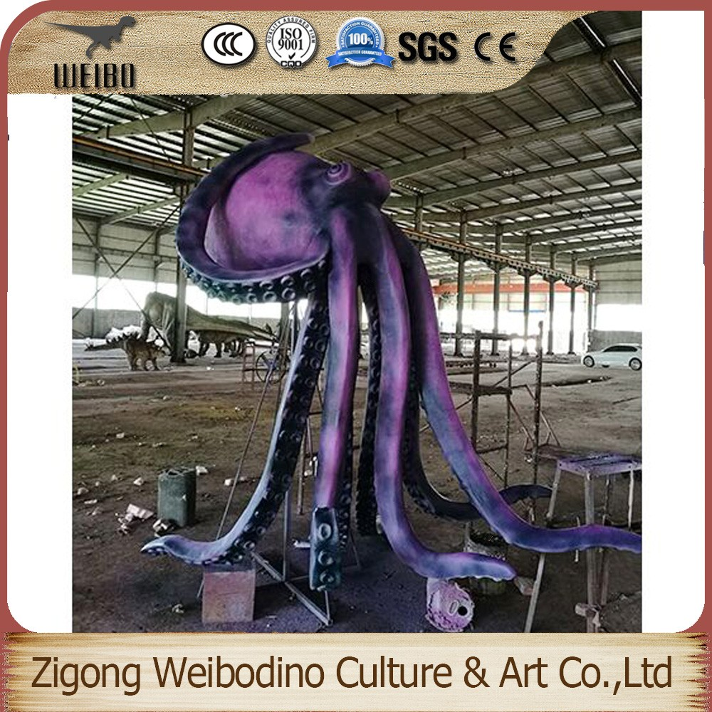 Big Size Customized Silicone Rubber Movable Octopus for Sale