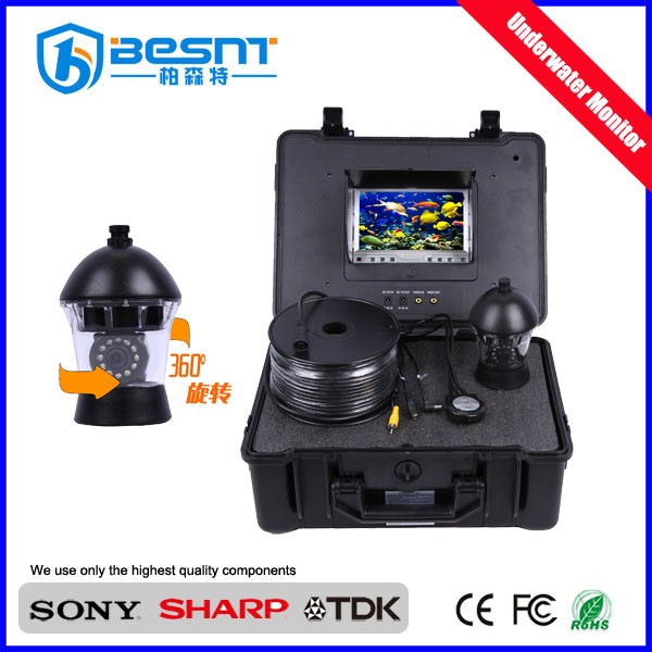 Hot in Australia 360 degree rotation cctv cameras under water camera with 50m cable (BS-ST20A)