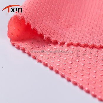 Factory direct Anti-UV 100% polyester jersey mesh fabric for garment and sportswear