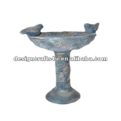 clay antique bird bath bird feeder