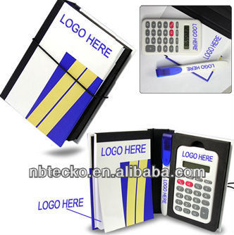 promotion notebook calculator with pen holder