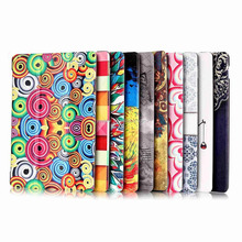 Colorful Painting three Folding Stand PU Leather Anti-Scratch Cover Case with Auto Sleep and Wake for Apple Ipad Mini4, 7.9''
