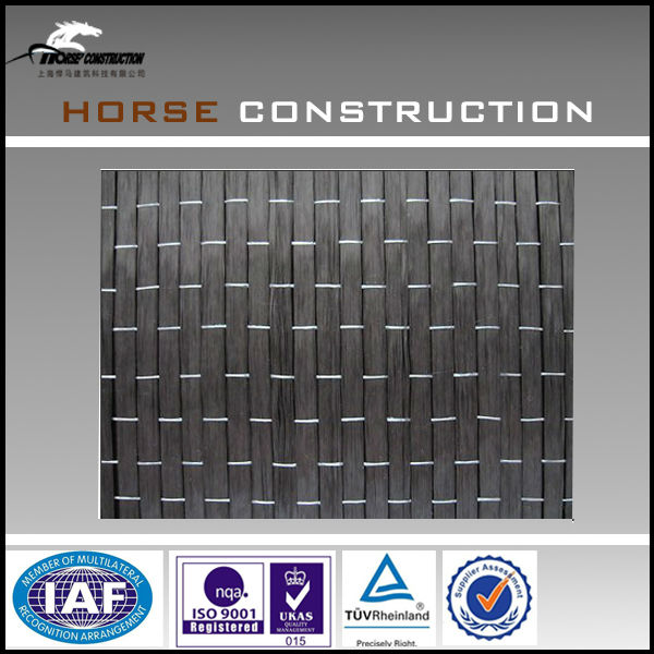 house strengthen material, carbon fiber cloths, unidirectional weave fabric