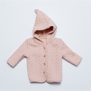 Nice Thick cotton quilted soft fabric winter child coat for kids
