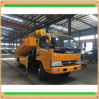 High efficient low price city underground pipe inspection shaft cleaning dredging truck with crane