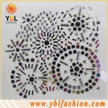 Korean Nailhead Studs Design Crystal Appliques for Dresses