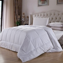 100% Hypoallgenic Poly Fiber Fill Down Alternative White Comforter Duvet Single Size