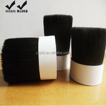 White Mixed Black colorful PBT PET Hollow Tapered Brush Filaments