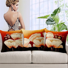 Northern European Triptich Flowers Concise Top Quality Classical printed Cushion Cover/Car Seat/Chair Outdoor Cushion Covers