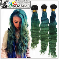 Top Grade 18 inch Brazilian Virgin Mermaid Deep Body Wave Three tone Ombre Color Human Hair Weft From China Supplier