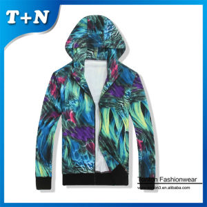 Custom made all over sublimation printing mans polyester spandex hoodies
