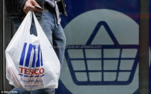 tesco plastic t-shirt bag for shopping