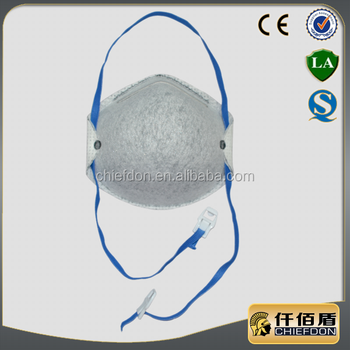 4 ply non woven carbon black dust mask with valve