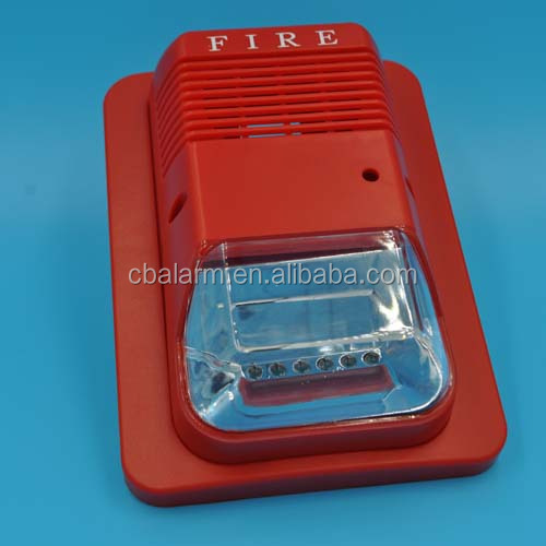 Fire alarm siren with strobe horn