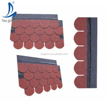 Fish-scale Standard Malaysia Asphalt Shingles price fiber cement roofing for coastal house color stones roof tiles