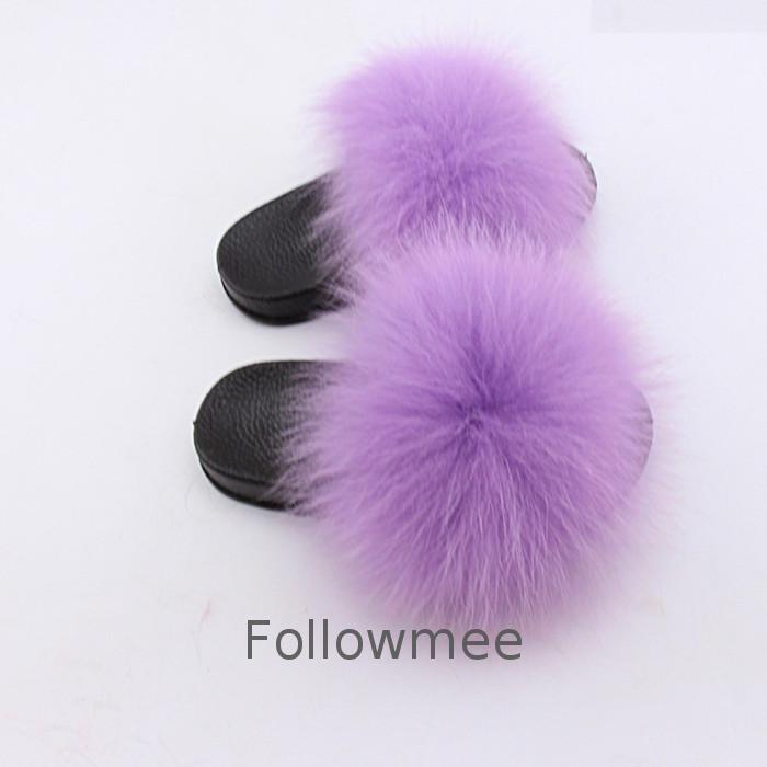 High quality pvc rubber real fur kids fox sandals custom baby fur slides <strong>flip</strong> flops colorful fluffy cute kids fox fur slippers