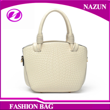 low factory price small style western girls bag fashion weave PU handbag