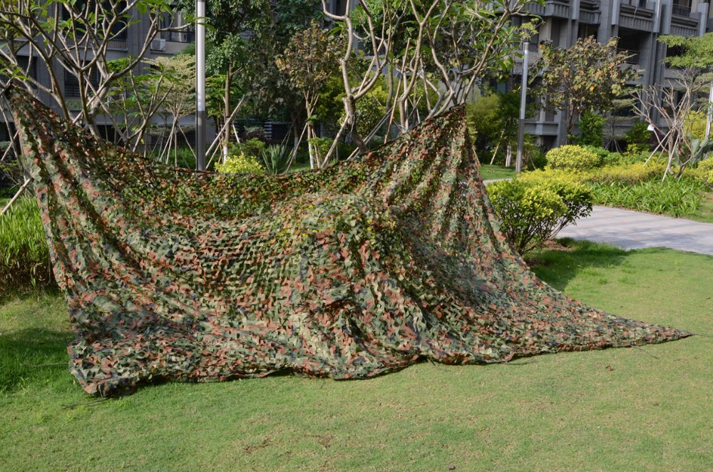 Military Woodland camoflage net Bird watching Net Paintball Games Woodland Camo Net