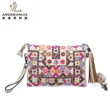 bohemian envelope style ethnic handmade embroidery clutch purses
