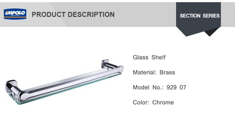 Wall mounted cheap modern bathroom glass shelf